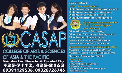 College Of Arts Sciences Of college of arts sciences of asia and the pacific casap