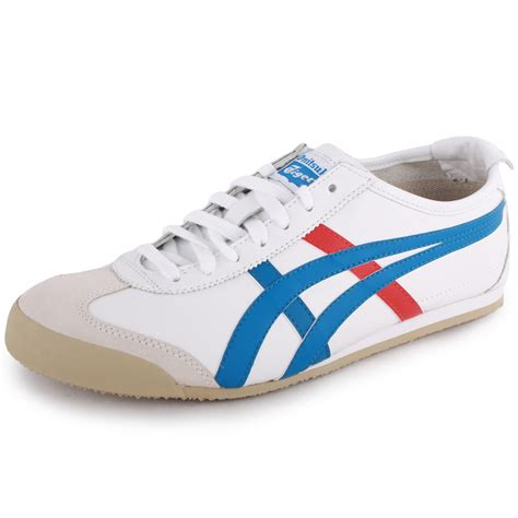 tiger shoes asics onitsuka tiger mexico 66 womens mens white blue