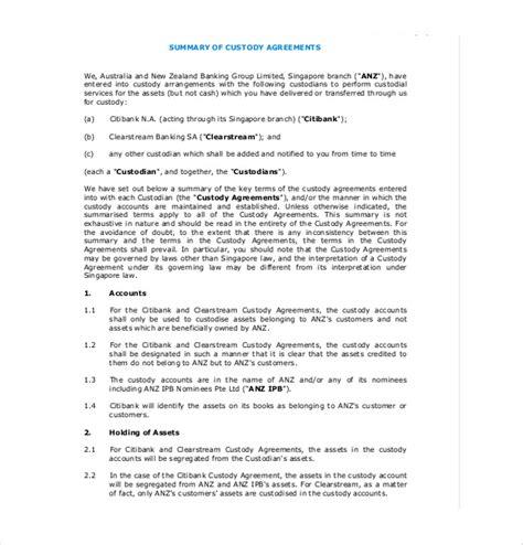 free joint custody agreement forms xymetri com