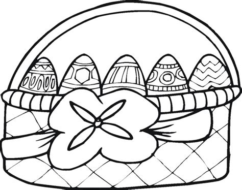easter basket with 5 eggs coloring page super coloring