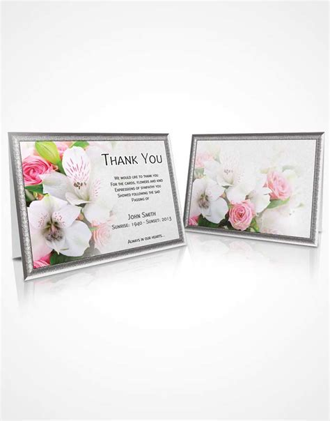 microsoft office sympathy card templates beautiful customizable sympathy thank you card floral 07