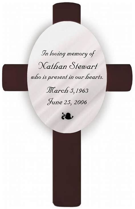 in loving memory memorial cross memorial gifts