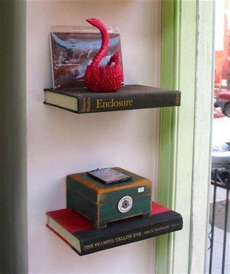 using books to create shelves refurbished ideas