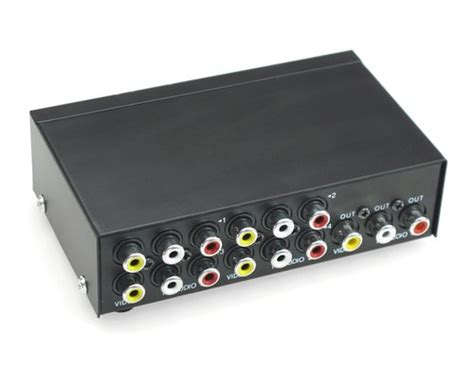 Harga Switcher Rca 4 port input 1 output audio av rca switch switcher