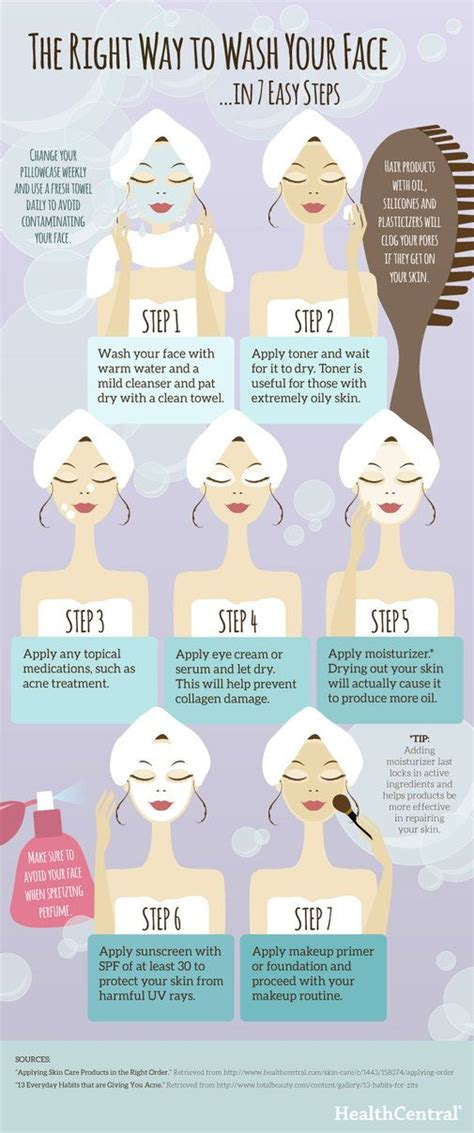 7 Steps To Skin by The Right Way To Wash Your In 7 Easy Steps Skin
