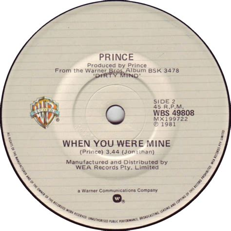 45cat prince controversy when you were mine warner
