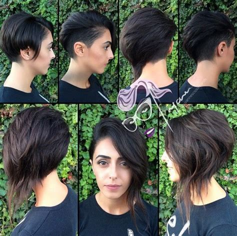 steep asymetrical side shave bob haircuts 17 best images about short hair on pinterest pixie