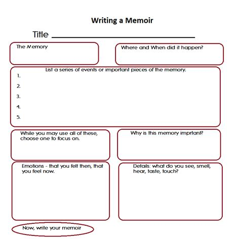 memoir template essay writing contest rubric home creative communication