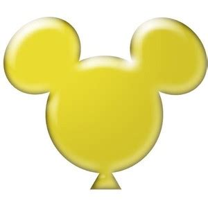Mickey Balloon Outline by Mickey Mouse Balloon Clipart Clipground