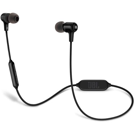 Earphone Bluetooth Jbl Jbl E25bt Bluetooth In Ear Headphones Black Jble25btblk B H