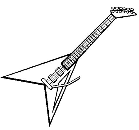 coloring pages electric guitar colored page electric guitar ii painted by xx