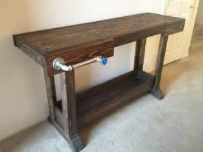 ana white work bench ana white workbench console table diy projects