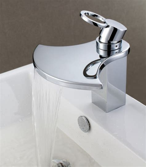 Sumerain S1262CW Waterfall Bathroom Sink Faucet   Modern   Bathroom Sink Faucets   by HomeThangs