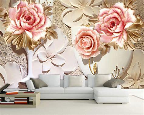 wallpaper flower murals custom papel de parede 3 d flower murals for the living