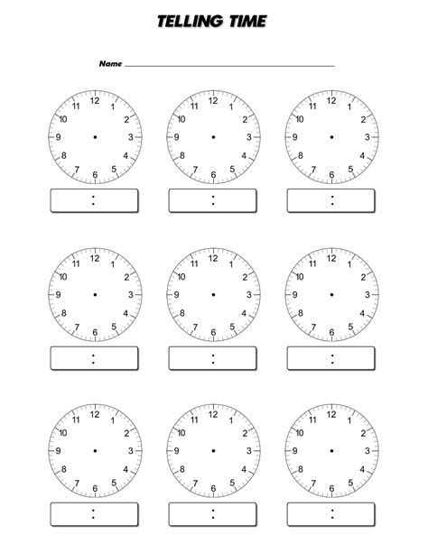 printable clock face download blank clock face worksheet kiddo shelter