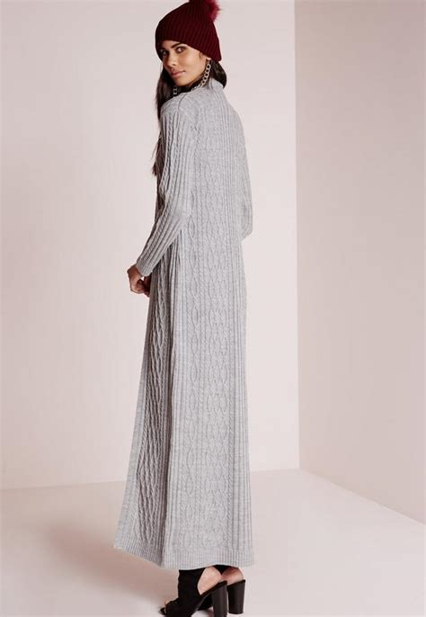 99022 Zada Gray 2 In 1 Maxi cable maxi cardigan grey missguided