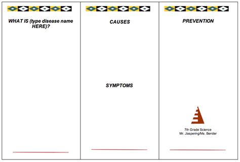 science brochure template dcg middle school library 7th grade science disease