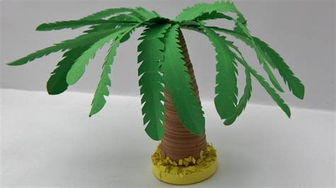 How To Make A 3d Tree Out Of Paper - how to make a 3d quilling palm tree diy tutorial free