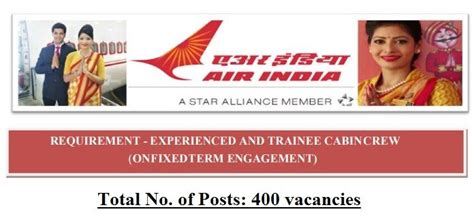 air cabin crew requirements air india requirement experienced trainee cabin crew