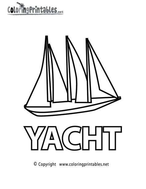 coloring pages yacht coloring page a free educational