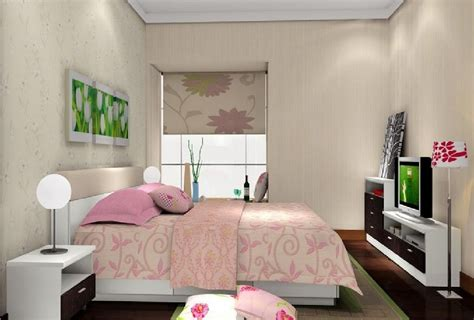 Woman bedroom with tv 3d house