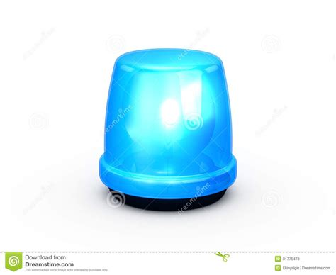 signal emergency lights light blue royalty free stock photos image