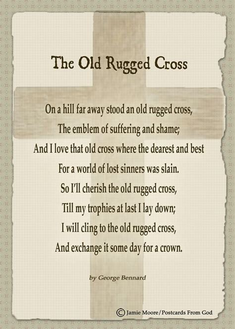rugged sentence i will cling to the rugged cross and exchange it some day for a crown hymns