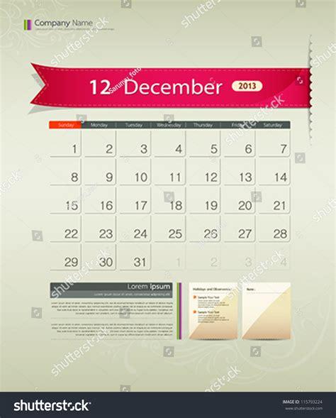calendar ribbon design december 2013 calendar ribbon design vector illustration