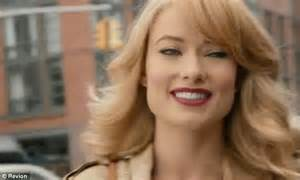 car commercial blond hair olivia wilde looks radiant as make up free brunette a