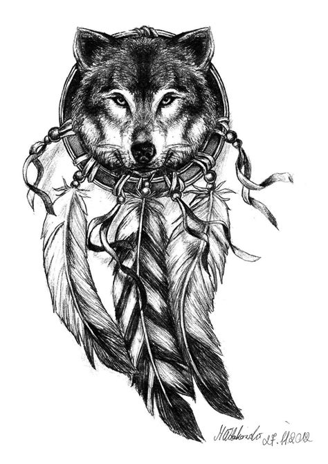 wolf and dreamcatcher tattoo designs 49 wolf designs and ideas