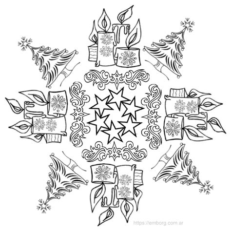 imagenes de mandalas navideñas para pintar 7 mandalas de navidad para colorear celina emborg