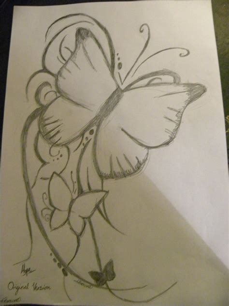 for easy butterfly pencil drawings image easy drawing for beginners