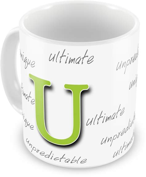 Gift From Letter U Everyday Gifts Happy Birthday Gift For Starting Letter U Ceramic Mug Price In India Buy