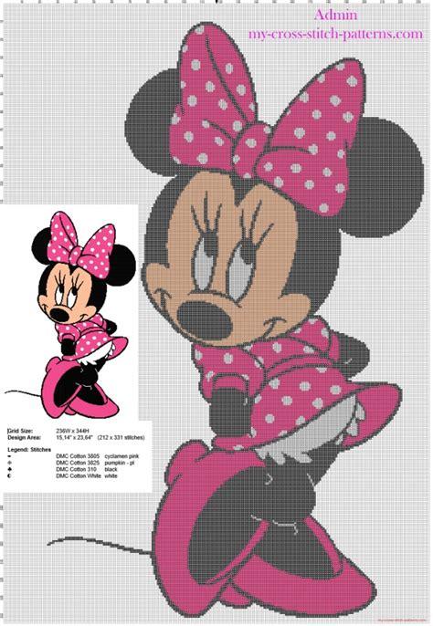Blouse Cross Minnie minnie mouse cross stitch patterns