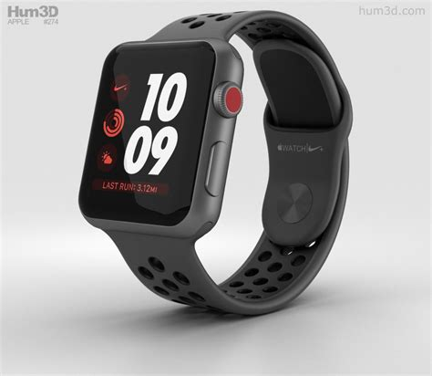 Apple Series 3 38mm Black Aluminium With Black Sport Bnib apple series 3 nike 38mm gps space gray aluminum