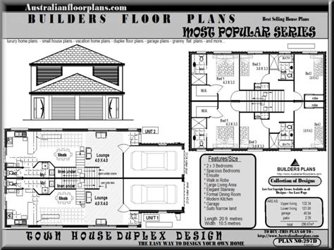 Two Story Duplex House Plans by Family Housing Duplex 2 Story Duplex House Plans