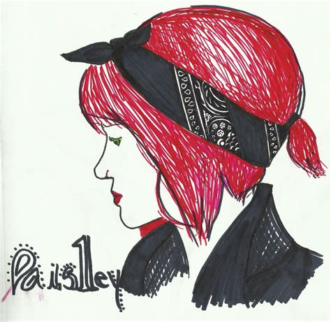 bandana pattern drawing drawing paisley bandana on a redhead by catb0y on deviantart