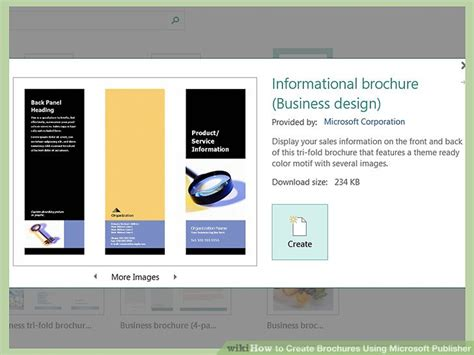How To Create Brochures Using Microsoft Publisher 11 Steps Microsoft Publisher Brochure Template