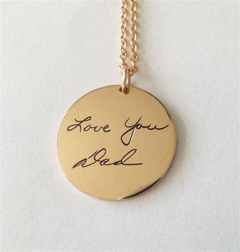custom handwriting gold signature pendant handwriting