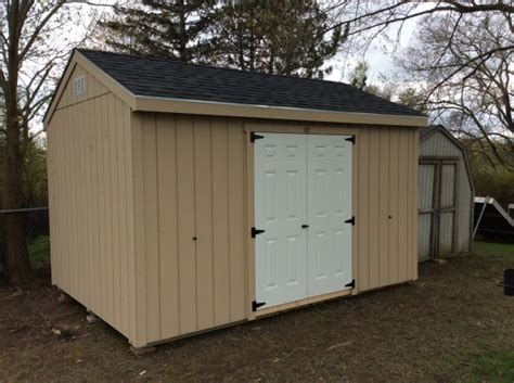 Moving Storage Shed by Salem Wi 10x14 Gable Mainus Construction Waterford