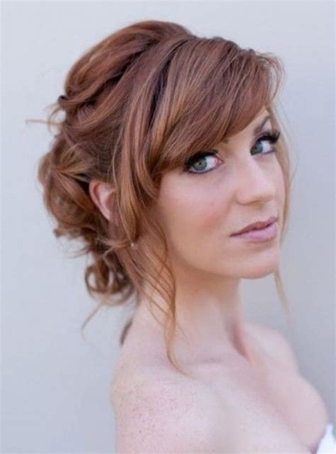 bridal hairstyles with fringe wedding hairstyles for long hair and fringe regarding