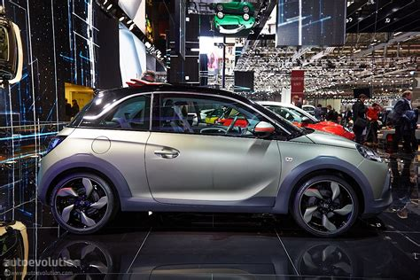 opel adam rocks opel adam rocks rolls its way to a geneva debut live