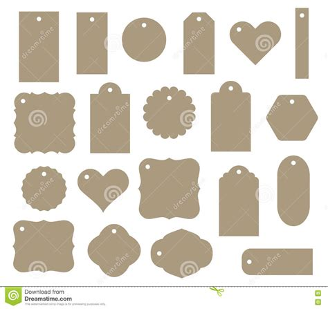 svg pattern tag set of vector gift tag discount label twenty different