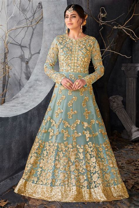 Bridal Wedding Wear Anarkali Heavy Work Dresses Collection