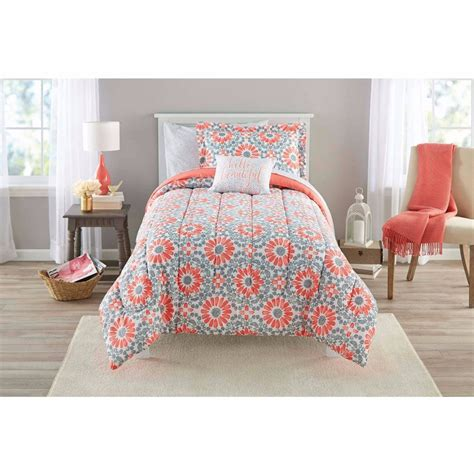 girls twin bed comforters coral twin bedding girls comforter set medallion teen