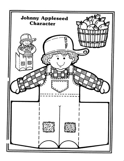 appleseed coloring page coloring page johnny appleseed only coloring pages