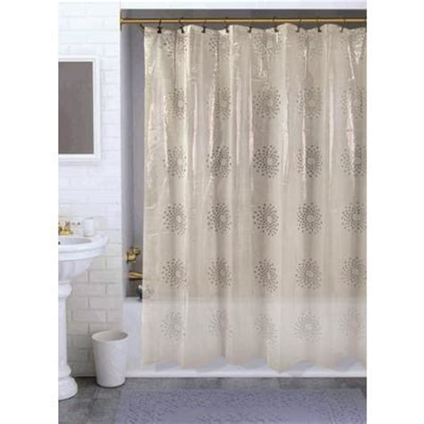 shower curtains home depot habitat snowflakes shower curtain clear 70 inches x 72