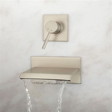 lavelle wall mount waterfall tub faucet bathroom lavelle wall mount waterfall tub faucet chrome finish