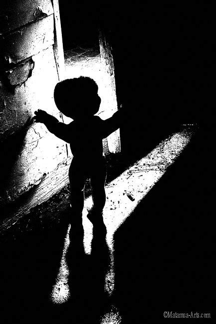 Creepy Horror Child Silhouette 11x17 Photography by