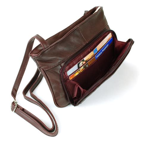 Its Not A Clutch Its A Mini Tote by Womens Tote Bag Purse Genuine Leather 5 Pocket Organizer